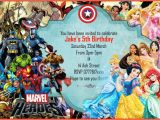 Marvel Party Invitation Template Free 18 Superhero Birthday Invitations Free Psd Vector Eps