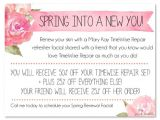 Mary Kay Facial Party Invitations Mary Kay Timewise Repair Refresher Facial Invite Add Your