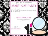 Mary Kay Mother Daughter Party Invitations Invitation Wording for Mary Kay Party Invitation