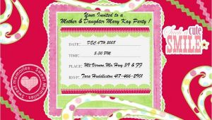 Mary Kay Mother Daughter Party Invitations Mary Kay Party Invitations Ehow