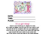 Mary Kay Mother Daughter Party Invitations Pajama Party Mary Kay Mary Kay Pinterest