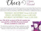 Mary Kay Party Invitation Postcards Mary Kay Holiday Cheer Open House Invitation Customize