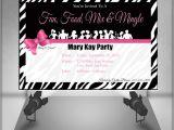 Mary Kay Party Invitation Postcards Mary Kay Zebra Party Invitation by Ofcreativity On Etsy