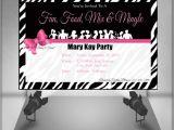 Mary Kay Party Invites Mary Kay Zebra Party Invitation by Clickofcreativity On Etsy