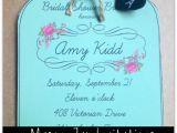 Mason Jar Bridal Shower Invitations Templates 6 Best Of Printable Mason Jar Invitations Template