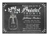 Mason Jar Bridal Shower Invitations Templates Chalkboard Mason Jar Bridal Shower Invitation