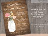 Mason Jar Bridal Shower Invitations Templates Mason Jar Bridal Shower Invitations Rustic by Notedoccasions