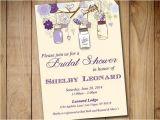 Mason Jar Bridal Shower Invitations Templates Rustic Bridal Shower Invitation Template Mason Jar