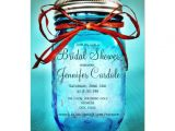 "Mason Jar Bridal Shower Invites Blue Mason Jar Country Bridal Shower Invitations 4 5"" X 6"