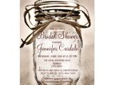 Mason Jar Bridal Shower Invites Country Mason Jar Rustic Bridal Shower Invitations