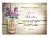 Mason Jar Bridal Shower Invites Country Rustic Mason Jar Bridal Shower Invitations