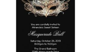 Masquerade Ball Birthday Party Invitations Custom Sweet Sixteen Masquerade Ball Invitations Zazzle Com