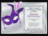 Masquerade Ball Birthday Party Invitations Mardi Gras and Masquerade Birthday Invitations Kustom