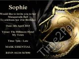 Masquerade Ball Birthday Party Invitations Masquerade Birthday Party Invitations Best Party Ideas