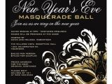Masquerade Ball Birthday Party Invitations New Years Eve Masquerade Ball Invitations Zazzle Com