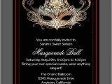Masquerade Invitations for Quinceaneras Custom Sweet Sixteen Masquerade Ball Invitations