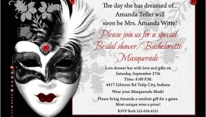 Masquerade Party Invitation Ideas Bachelorette Masquerade Party Invitation Elaborate Mask