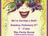 Masquerade Party Invitation Ideas Mardi Gras Birthday Invitations Ideas Bagvania Free
