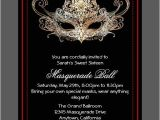 Masquerade themed Quinceanera Invitations Custom Sweet Sixteen Masquerade Ball Invitations