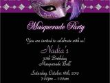 Masquerade themed Quinceanera Invitations Yellow and orange Masquerade Happy Party Invitations