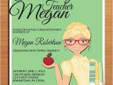 Masters Degree Graduation Party Invitations Teacher Education Degree Graduation Party Invitation Cards
