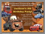 Mater Birthday Invitations Cars Birthday Invitation Mater Invitations Disney Cars