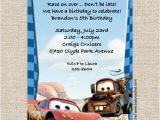 Mater Birthday Invitations Cars Lightning Mcqueen Mater Birthday Invitations