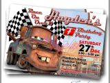 Mater Birthday Invitations tow Mater Cars Movie Invitation Card by Cardsbyrachelzamora