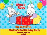 Max and Ruby Birthday Party Invitations Items Similar to Max and Ruby Birthday Invitations On Etsy