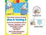 Max and Ruby Birthday Party Invitations Max and Ruby Bunny Birthday Invitations W Address Labels