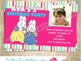 Max and Ruby Birthday Party Invitations Max Ruby Cupcake Invitations Custom Invites