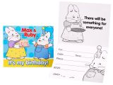 Max and Ruby Birthday Party Invitations Max Ruby Invitations