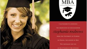 Mba Graduation Invitations Mba Photo Red and Black Graduation Announcements Photo