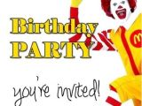 Mcdonalds Birthday Invitation Cards 7 Best Mcdonalds Birthday Party theme Images On Pinterest