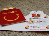 Mcdonalds Birthday Invitation Cards Mcdonalds Birthday Party Invitations Mickey Mouse