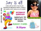 Mcdonalds Birthday Invitation Cards the J Babies A Debut Mcdonalds' Birthday Party