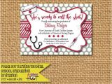 Medical School Graduation Party Invitations Medical or Nursing School Graduation Party Invitation