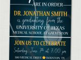 Medical School Graduation Party Invitations Medical School Graduation Invitation Medical School Graduation