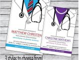 Medical School Graduation Party Invitations Medical School Graduation Invitation Tie Bow Tie or by