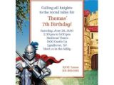 Medieval Party Invitations Medieval Knight Personalized Invitation Custom
