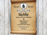 Medieval Party Invitations Medieval Party Invitation Wording