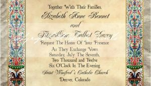 Medieval Wedding Invitations Wording 37 Best Images About Medieval Wedding Invites On Pinterest
