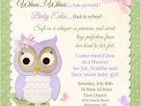 Meet the Baby Shower Invitations butterfly Owl Baby Shower Invitation Pastel Bir whoo
