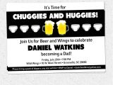 Mens Baby Shower Invitations Chuggies and Huggies Beer and Diaper Party Invitation