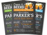 Mens Birthday Party Invitation Templates 40th Birthday Invitation Template for Men