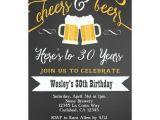 Mens Birthday Party Invitation Templates Cheer and Beers Birthday Party Invitation for Men Zazzle Com