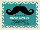 Mens Birthday Party Invitation Templates Men 39 S Birthday Invitation Mustache Printable by