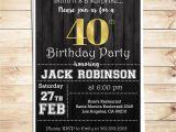 Mens Birthday Party Invitation Templates Surprise 40th Birthday Party Invitations for Him Men 40th