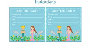 Mermaid Birthday Invitations Free Printable Free Mermaid Birthday Party Printables From Printabelle