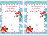 Mermaid Birthday Invitations Free Printable Little Mermaid Birthday Invitations Birthday Printable